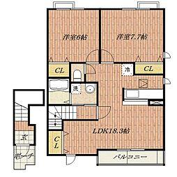 Du Sud Maison[2階]の間取り