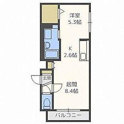 グランメール本郷通6A[1階]の間取り