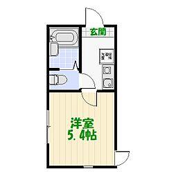 シャンテ四ツ木駅前[0103号室]の間取り