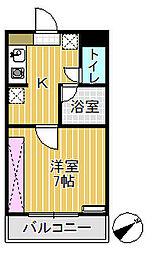 プリンスマンション[202号室]の間取り