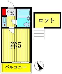 東京都葛飾区柴又4の賃貸アパートの間取り