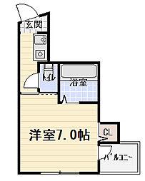 エスポアール豊秀[4階]の間取り