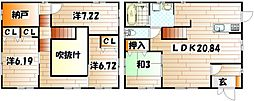 [一戸建] 福岡県北九州市小倉南区湯川新町2丁目 の賃貸【/】の間取り