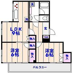 筑波ビル[4階]の間取り