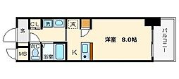 レジディア天神橋[12階]の間取り
