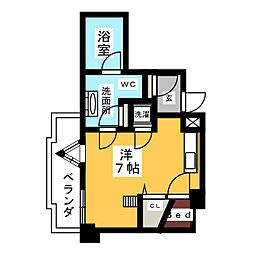 SK'BUILDING−5[6階]の間取り