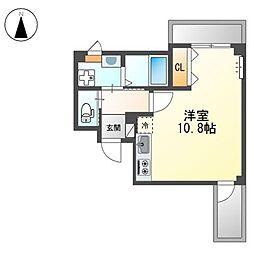 堺市堺区中三国ヶ丘町賃貸マンション新築工事 3階ワンルームの間取り