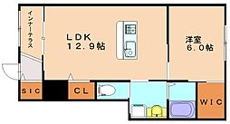 仮称)仲原新築アパート[1階]の間取り