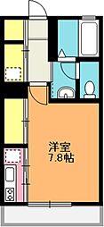 埼玉県上尾市谷津1丁目の賃貸アパートの間取り