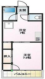 シャトー高木[3階]の間取り