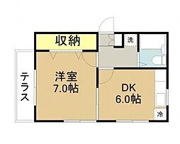 ツインハウスA・B棟[B102号室]の間取り