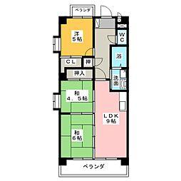 アビタシオン中平[6階]の間取り
