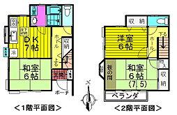 [テラスハウス] 東京都八王子市大楽寺町 の賃貸【/】の間取り