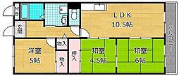 ハイパークマンション[2階]の間取り