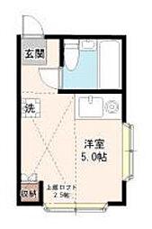 東京都狛江市駒井町1丁目の賃貸アパートの間取り