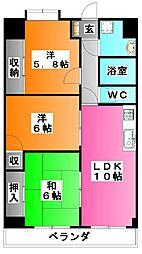 メルベーユ秀華[5階]の間取り
