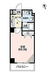 JR京浜東北・根岸線 上中里駅 徒歩6分の賃貸マンション 4階1Kの間取り