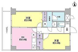 エクレール上池台 bt[702kk号室]の間取り