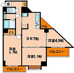 ライオンズマンション西明石[10階]の間取り