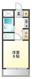 アンボワーズ武庫川[5階]の間取り