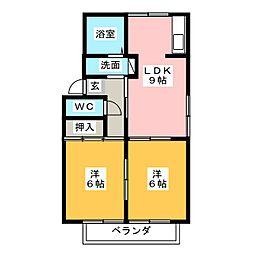 ファミール堀部[2階]の間取り