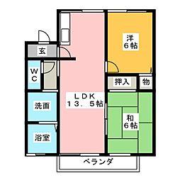 竹里館[2階]の間取り