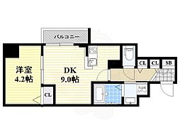 ユーズ七番館 5階1DKの間取り