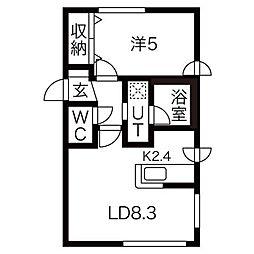 バンビーニN[4階]の間取り