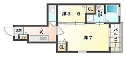 Villa BRISE[1階]の間取り
