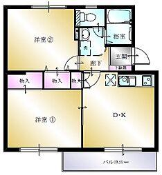 多賀台ヒルズマンションA[105号室]の間取り