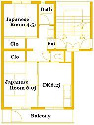竹山第1 1101[2階]の間取り