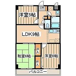 サンハイムノジマ[2階]の間取り
