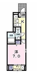 東京都豊島区高田1丁目の賃貸アパートの間取り