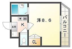 ウエスティン18[3階]の間取り