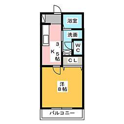 サン・friends三ツ井 B棟[1階]の間取り