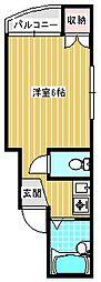 エレガントコハマ[305号室]の間取り