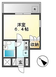 愛知県名古屋市名東区極楽5の賃貸マンションの間取り