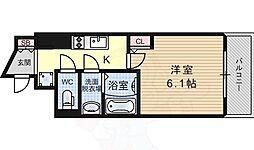 アークグラン大阪West 8階1Kの間取り