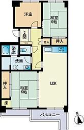あさひマンション福岡[302号室]の間取り
