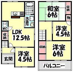 [一戸建] 大阪府泉大津市小松町 の賃貸【/】の間取り