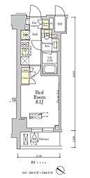 東京メトロ南北線 麻布十番駅 徒歩7分の賃貸マンション 1階1Kの間取り