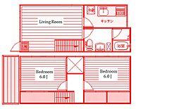 [テラスハウス] 神奈川県綾瀬市小園 の賃貸【神奈川県 / 綾瀬市】の間取り