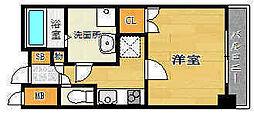 トア山手フラッツ[4階]の間取り