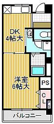 第一寿荘[3階]の間取り
