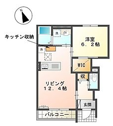 兵庫県姫路市北今宿1丁目の賃貸アパートの間取り