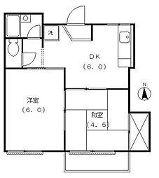 メゾン・ド・杉田[1階]の間取り