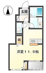 徳島県徳島市南蔵本町3丁目の賃貸アパートの間取り