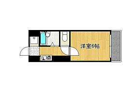 兵庫県神戸市灘区徳井町2丁目の賃貸マンションの間取り