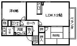 セジュールSAWA[2階]の間取り