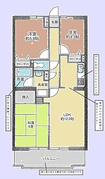 エス・バイ・エルマンション土浦[4階]の間取り